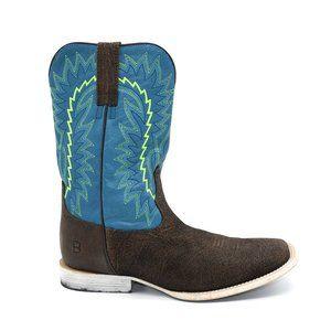 Ariat Relentless Elite Blue & Brown Western Boots